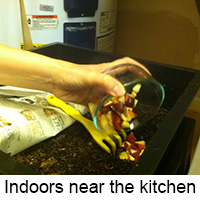 indoor composting near the kitchen