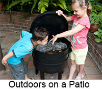 outdoor compostion on a patio