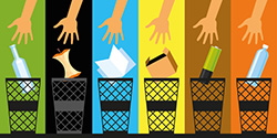 recycling and composting trash