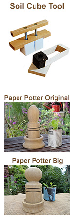 soil cube tool & paper potter