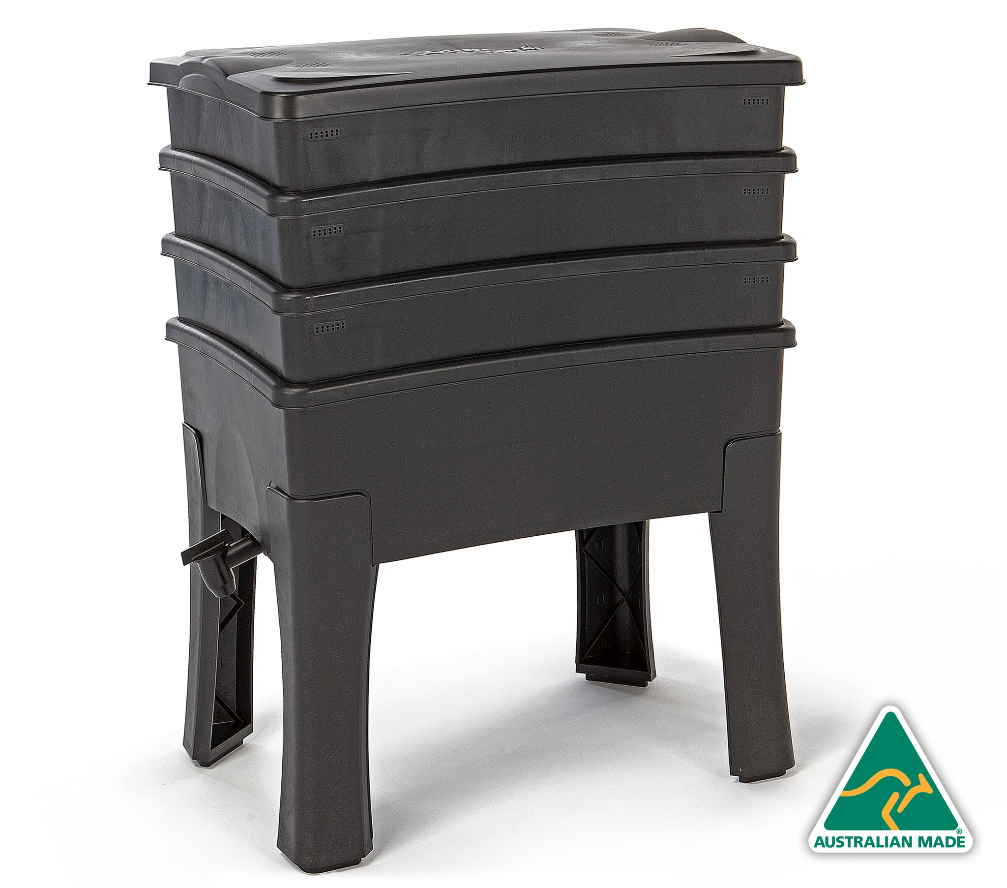1 | Worm Cafe, Worm Composter, Black