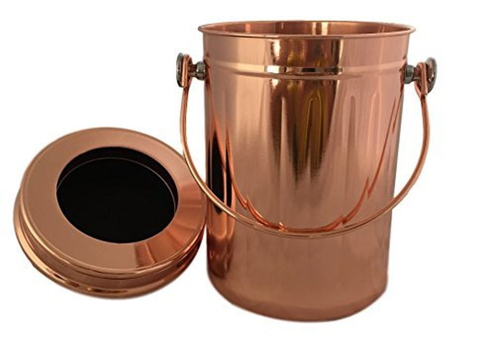 *ROSE GOLD* Stainless Steel Compost Pail